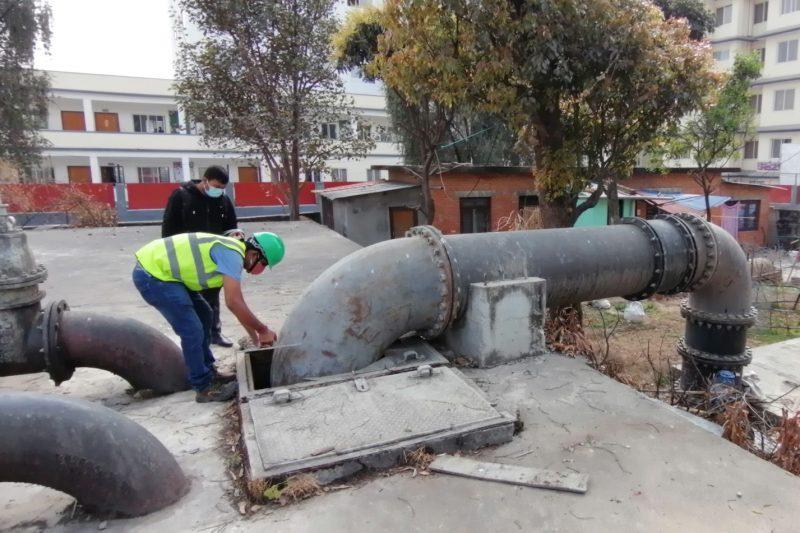 Conception de la régulation automatique du nouveau réseau de distribution d'eau potable de Katmandou